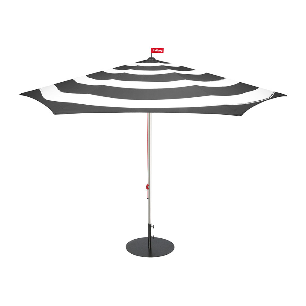 8718969853828 stripe parasol with base anthracite 616574