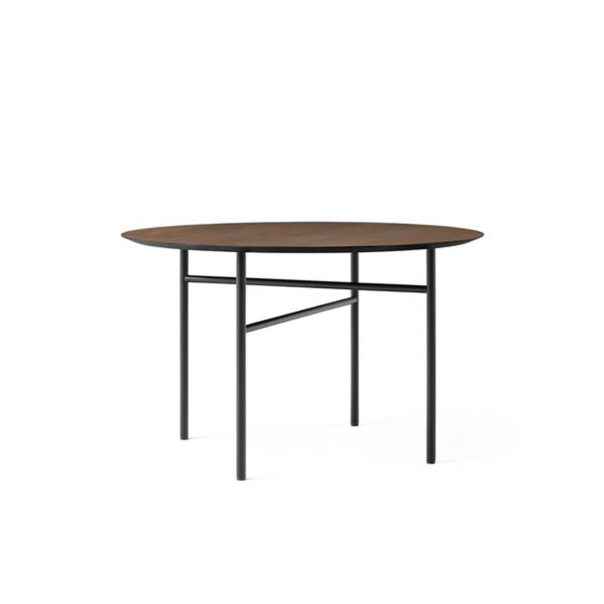 Snaregade Dining Table, Round Ø120, Black/Dark Stained Oak