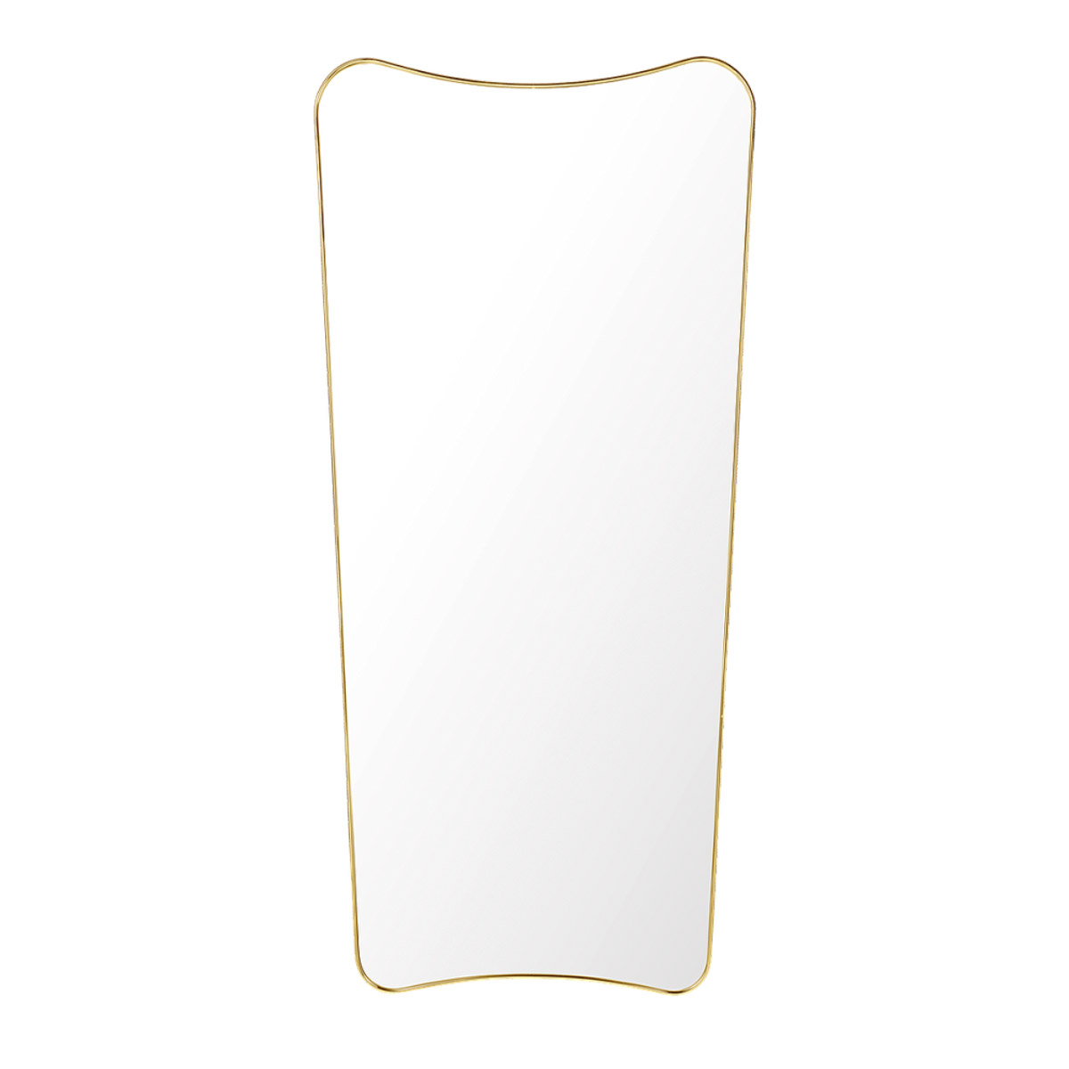 gubi fa33 wall mirror 70146 polishedbrass